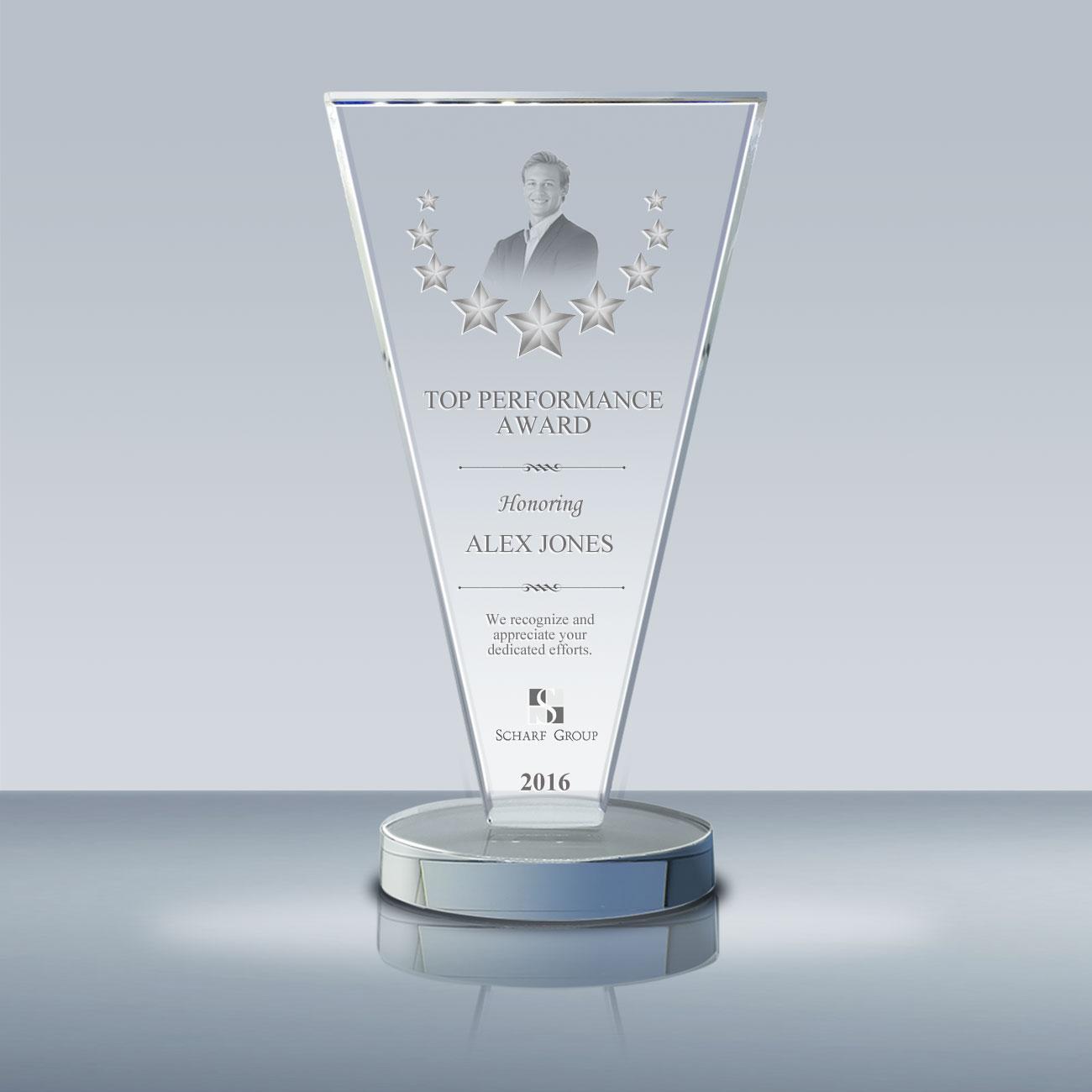 employee achievement plaque  u2013 crystal success award  032
