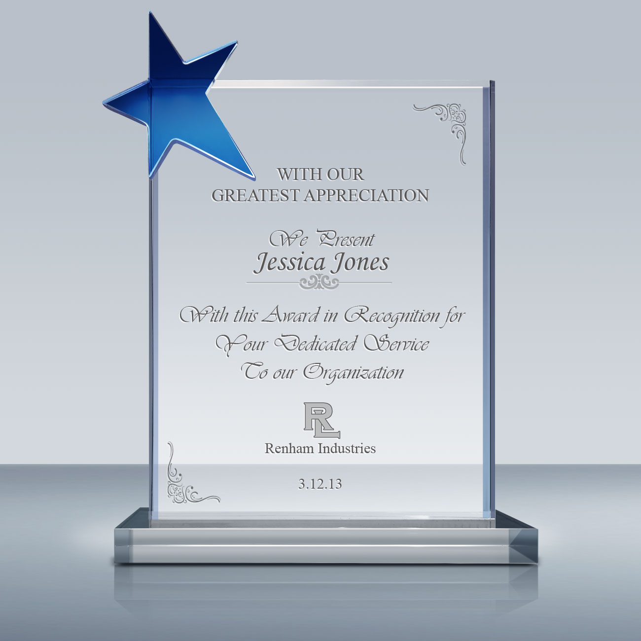 Employee Recognition Star Plaque 027 Goodcount