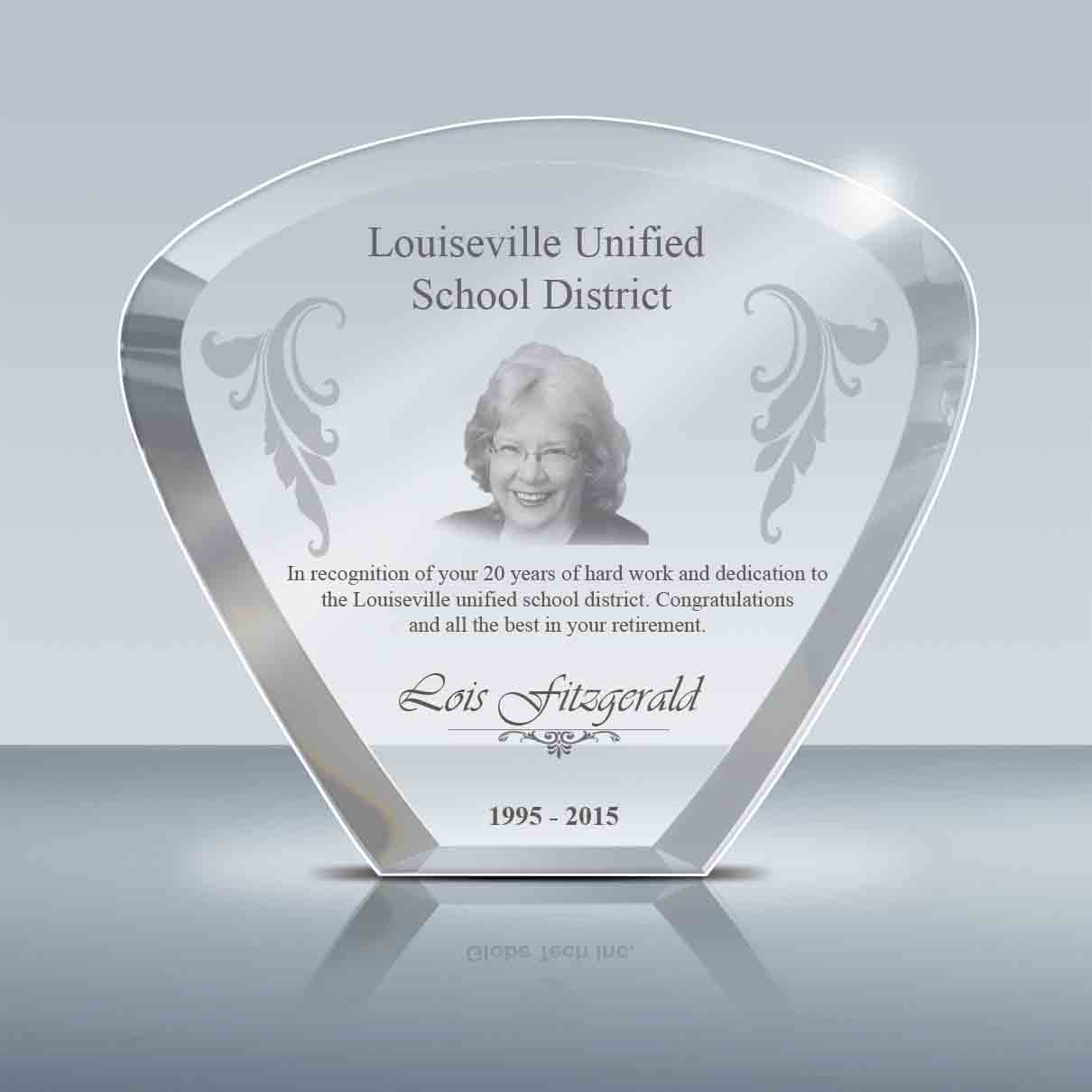 Goodcount Awards Custom Engraved Crystal Awards