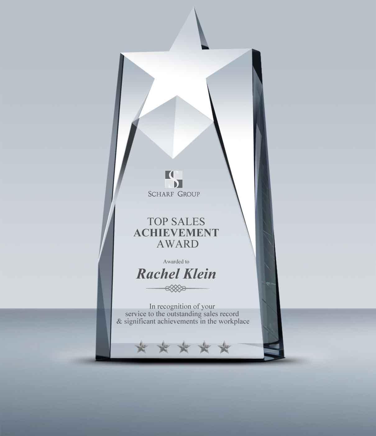 Best Sales: Crystal Star Tower Award (012
