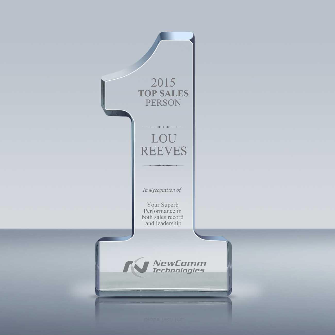 Best Sales: Crystal Number 1 Sales Award (040)